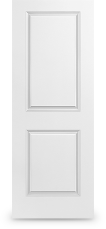 2 Panel Square: Smooth door