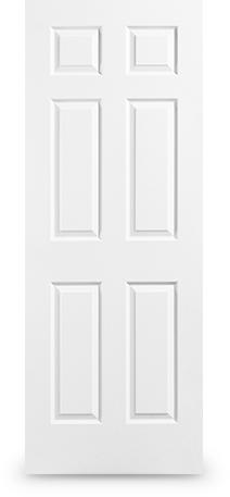 6 Panel: Textured door