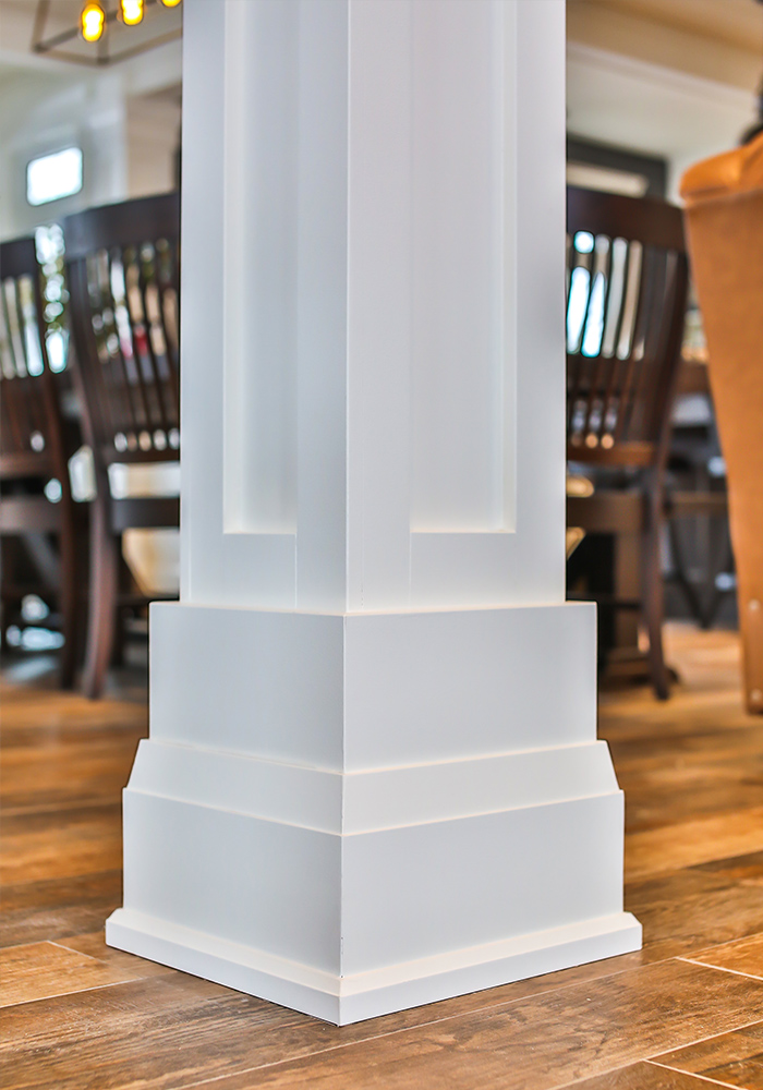 base of square white column